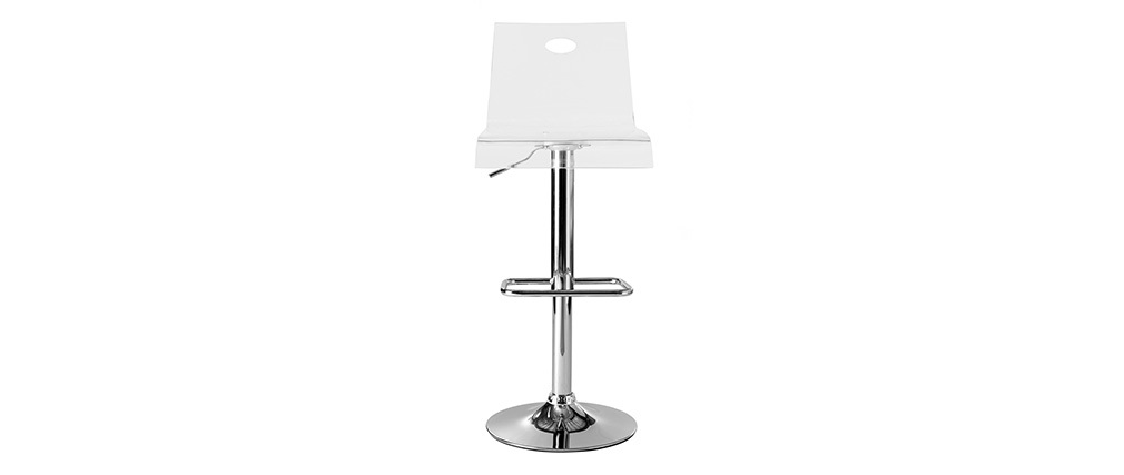 SATURNE Transparent Modern plexiglass Bar Stool (set of 2)