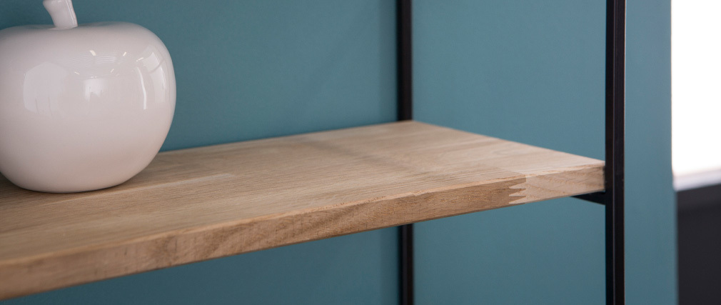 SCALE wall shelves in metal and wood 70cm
