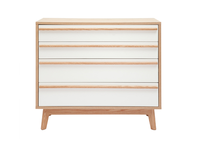 Scandinavian Style 4 Drawer Chest HELIA