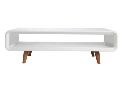 Scandinavian Style Glossy White and Ash Coffee Table MELKA