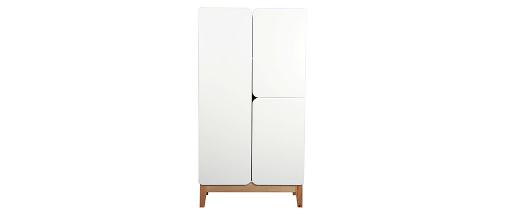 Scandinavian white and wood armoire KUNG