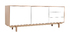 Scandinavian white and wooden buffet 195 cm SID