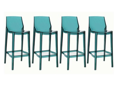 Sea Blue Modern Bar Stool YLAK (set of 4)