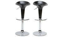 Set of 2 black GALAXY bar stools