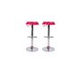 Set of 2 CAP bar stools - pink