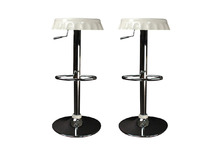 Set of 2 CAP bar stools - white