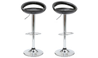 Set of 2 COMET bar stools - black