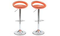 Set of 2 COMET bar stools - orange