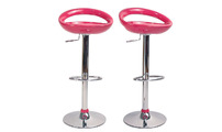 Set of 2 COMET bar stools - pink