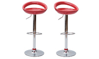 Set of 2 COMET bar stools - red