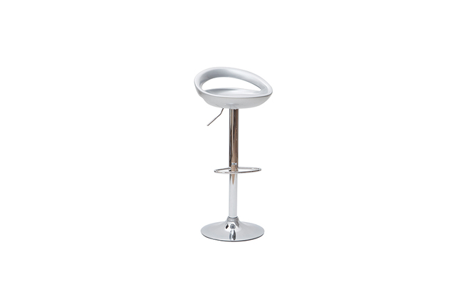 Set of 2 COMET bar stools - silver