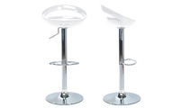 Set of 2 COMET bar stools - white