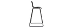 Set of 2 designer black ONA bar stools with a height of 76cm