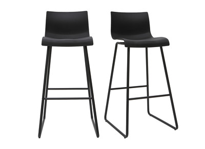 Outstanding Set Of 2 Designer Black Ona Bar Stools With A Height Of 76Cm Spiritservingveterans Wood Chair Design Ideas Spiritservingveteransorg