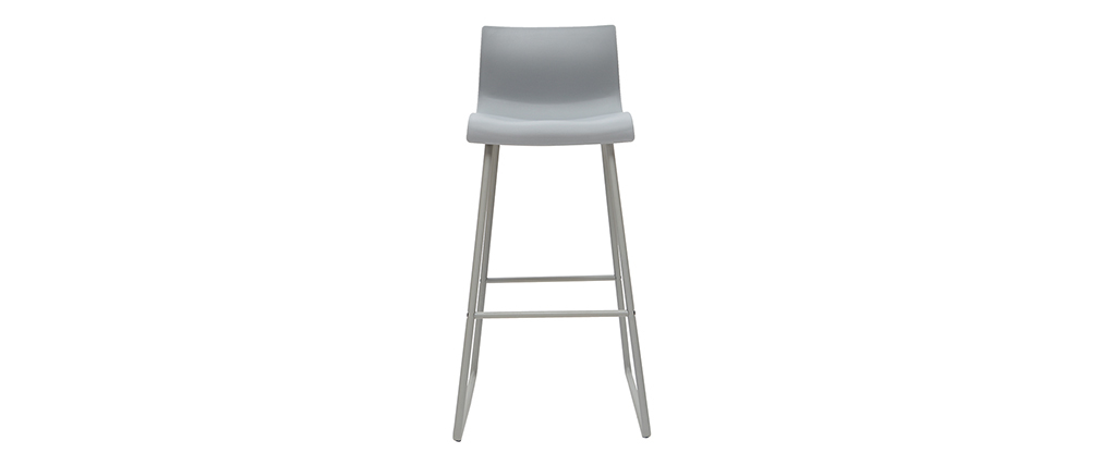 Set of 2 designer grey ONA bar stools with a height of 76cm