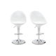 Set of 2 EGG bar stools - white