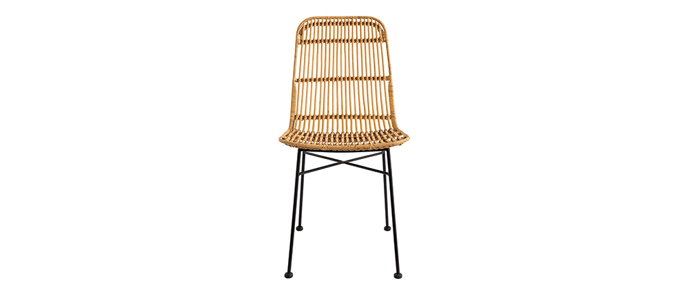 Set of 2 MALACCA natural rattan chairs
