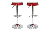 Set of 2 NEW CAP bar stools - burgundy