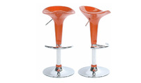 Set of 2 orange GALAXY bar stools