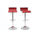 Set of 2 WAVES bar stool - burgundy