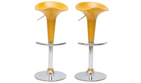 Set of 2 yellow GALAXY bar stools