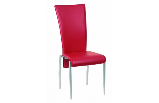 Set of 4 red ERICA kitchen dining chairs Miliboo