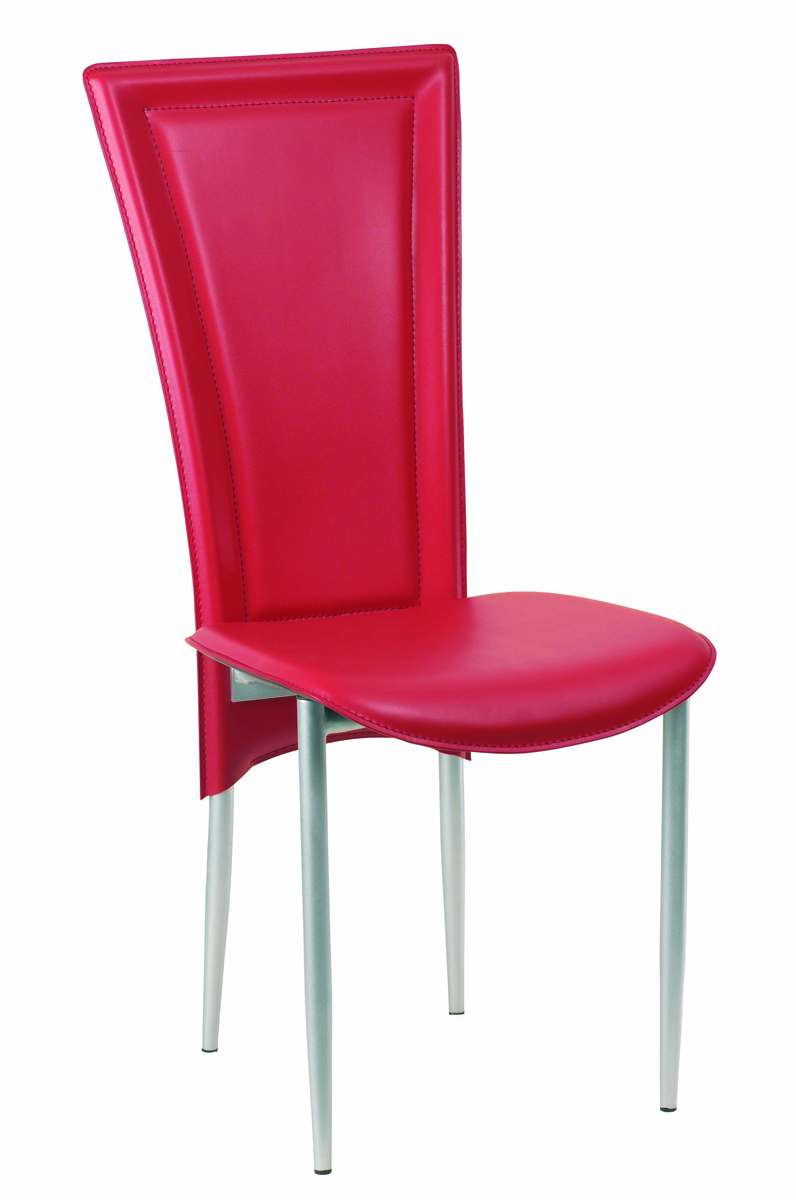 set of 4 red kylie kitchen dining chairs miliboo. Black Bedroom Furniture Sets. Home Design Ideas