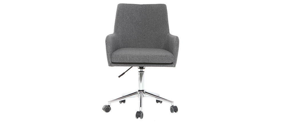 SHANA anthracite grey fabric office chair