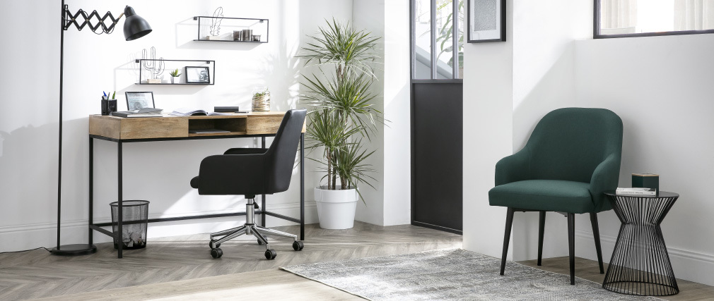 SHANA black PU office chair