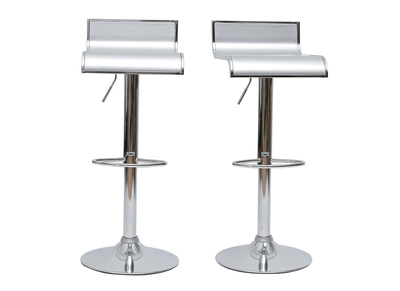 Silver Bar/Kitchen Stool WAVES (set of 2)