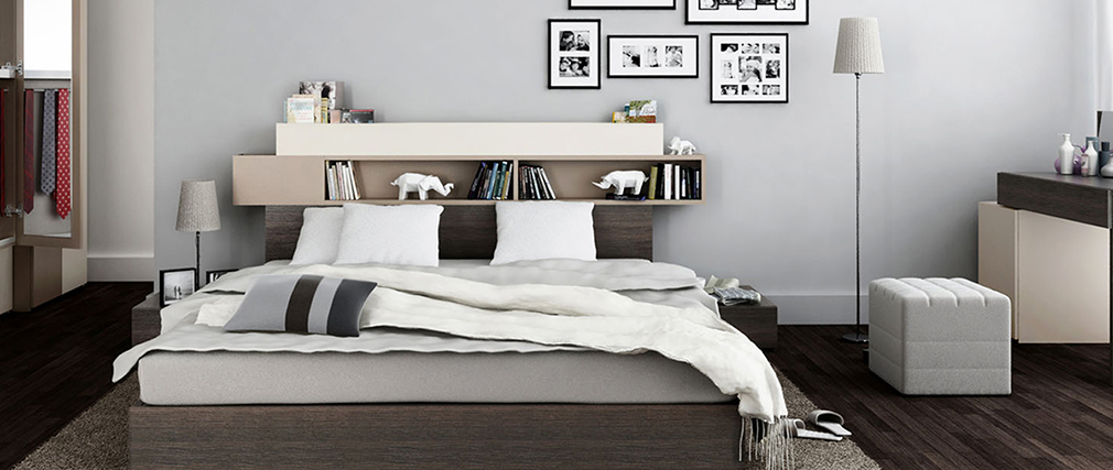 SIRIUS storage bed and headboard with storage 140x200cm