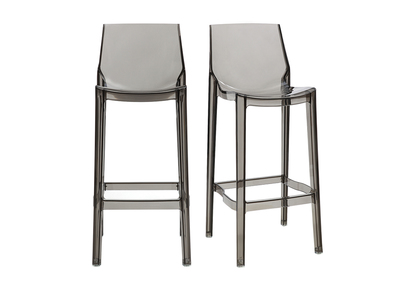 Smoked Grey Modern Bar Stool YLAK (set of 2)