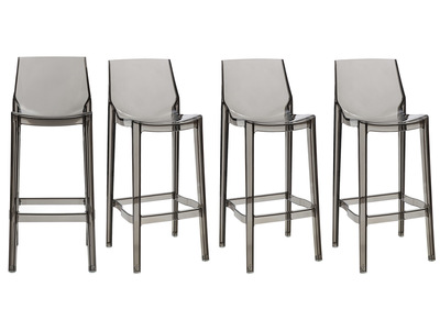 Smoked Grey Modern Bar Stool YLAK (set of 4)