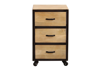 Solid Wood Industrial Filing Cabinet INDUSTRIA