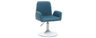 SOLLY designer teal swivel chair