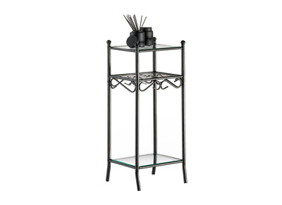 Steel and Glass Telephone Stand/Table FLORENCE