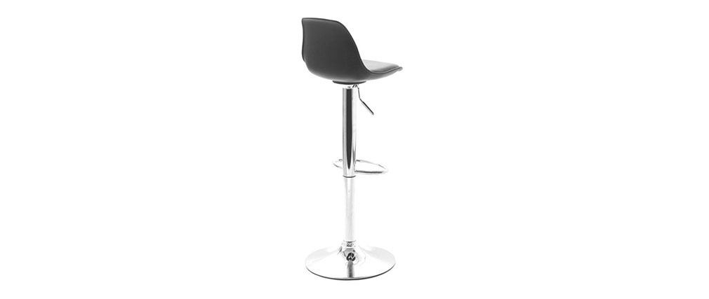 STEEVY Black Modern Bar Stool (set of 2)