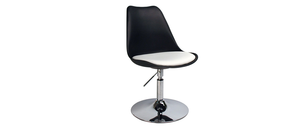 STEEVY Black Modern Height-Adjustable Swivel Chair