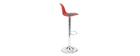 STEEVY Red and Black Modern Bar Stool (set of 2)