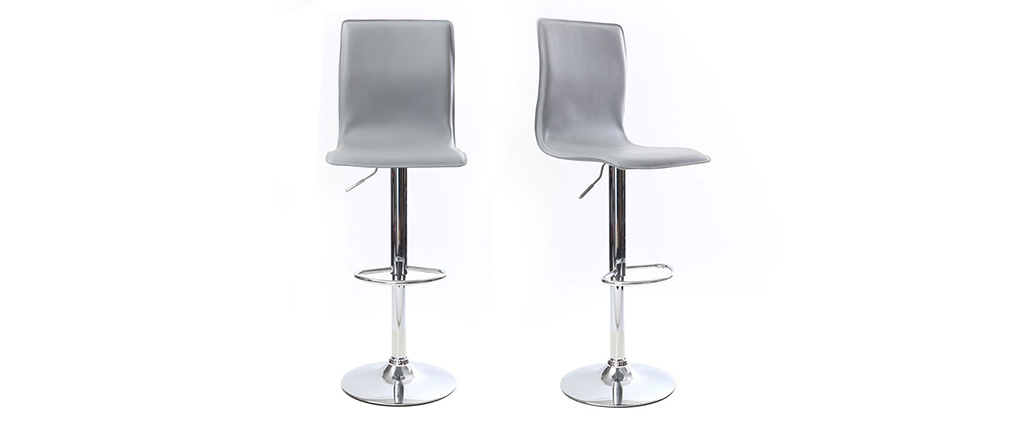 SURF ALTO Grey Modern Bar/Kitchen Stools (set of 2)
