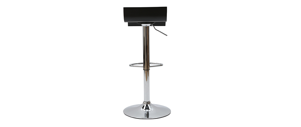 SURF Black Modern Bar/Kitchen Stool