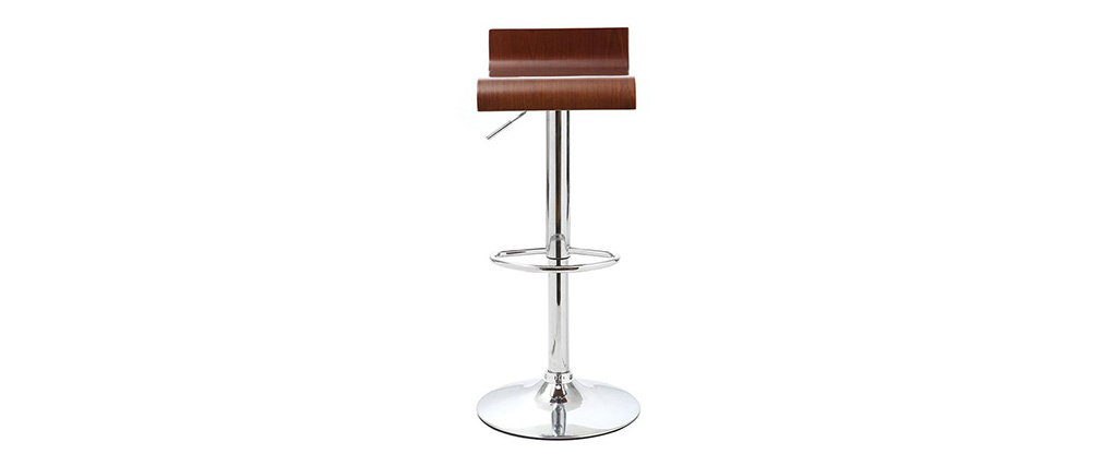 SURF V2 Walnut Veneer Modern Bar Stools (set of 2)