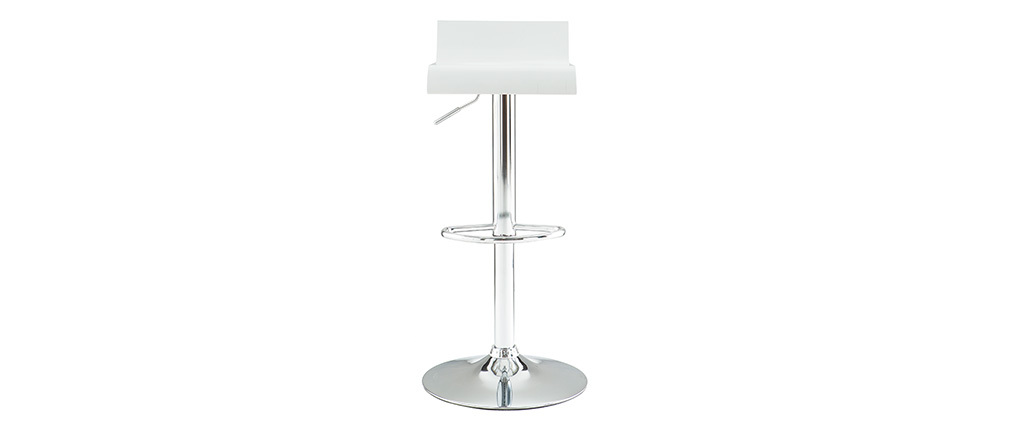 SURF White Modern Bar/Kitchen Stool