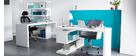 T-MAX Glossy White Modern Swivel Desk