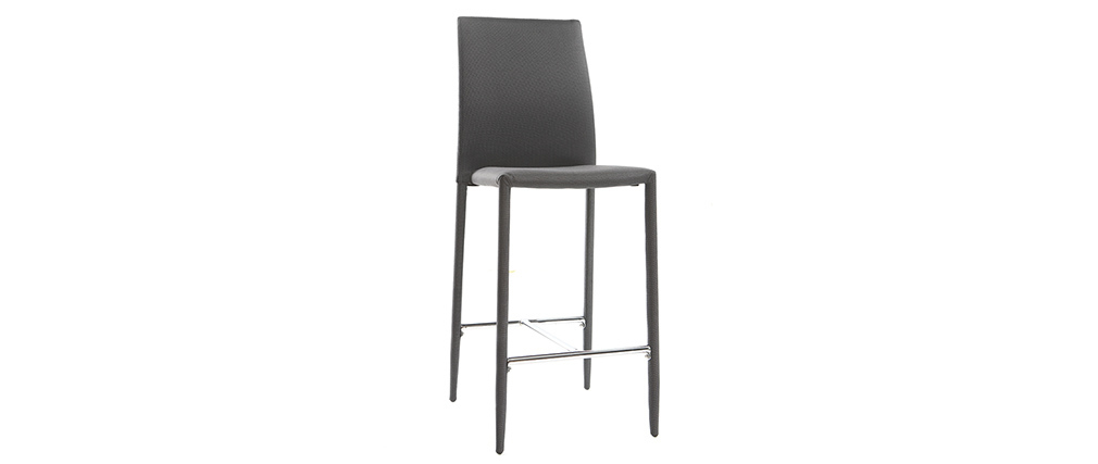 TALOS set of 2 anthracite grey designer bar stools/chairs