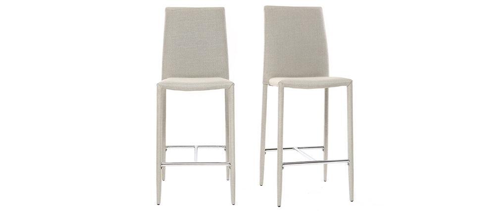 TALOS set of 2 light grey designer bar stools/chairs