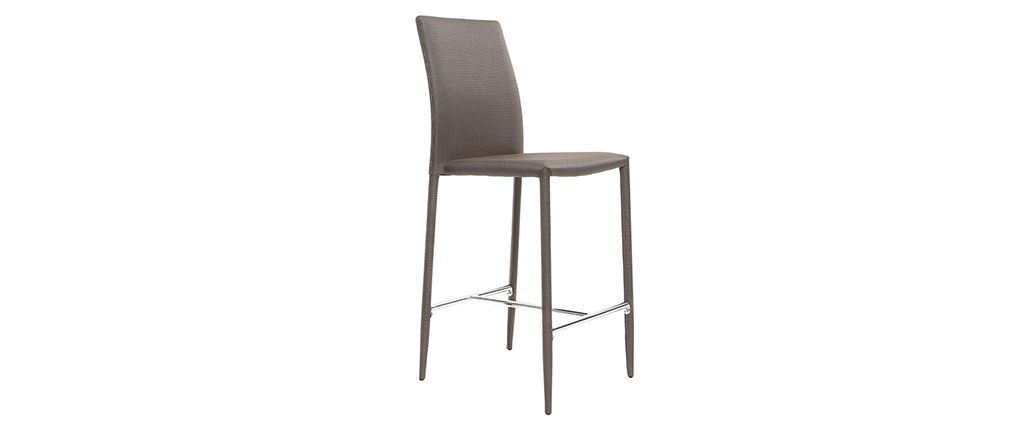 TALOS set of 2 taupe designer bar stools/chairs