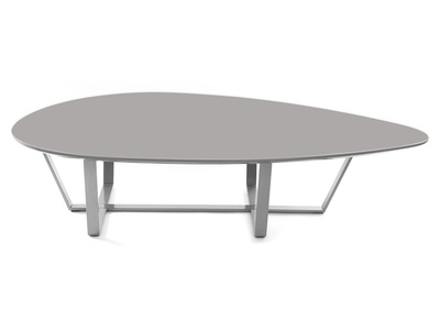Taupe Grey Modern Coffee Table MILLA