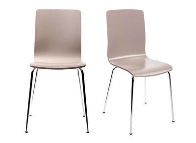 Taupe Grey Modern Kitchen Chair NELLY (set of 2)