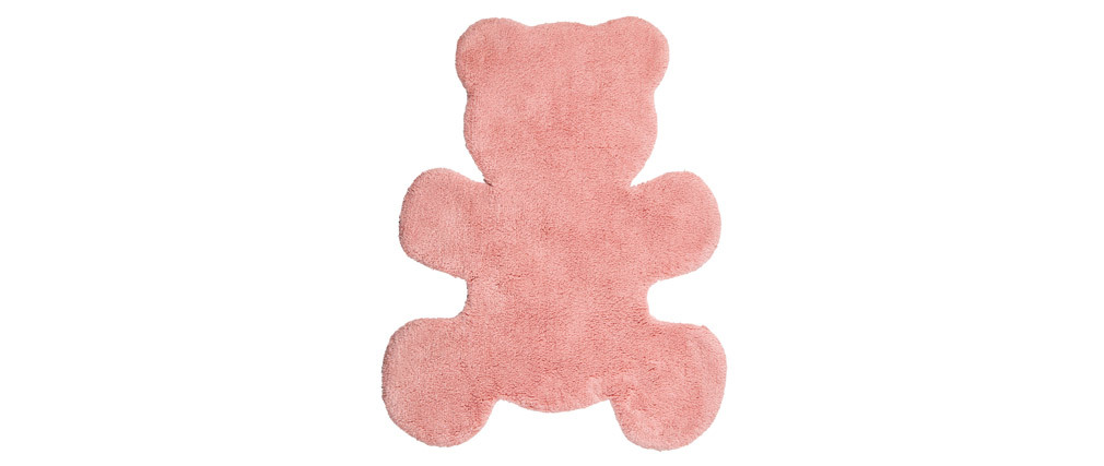 TEDDY washable pink cotton children?s rug 80x100cm
